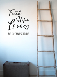 Muursticker Faith Hope Love