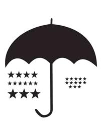 Muursticker Paraplu Met Neerslag