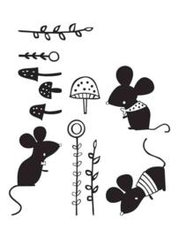 Muursticker Muizenwereld