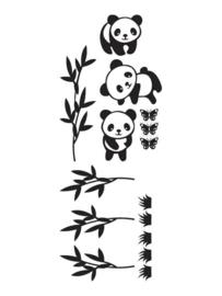 Muursticker Pandawereld