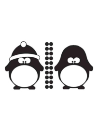 Muursticker Pinguins