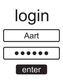 Muursticker Login