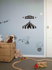 Muursticker Circus