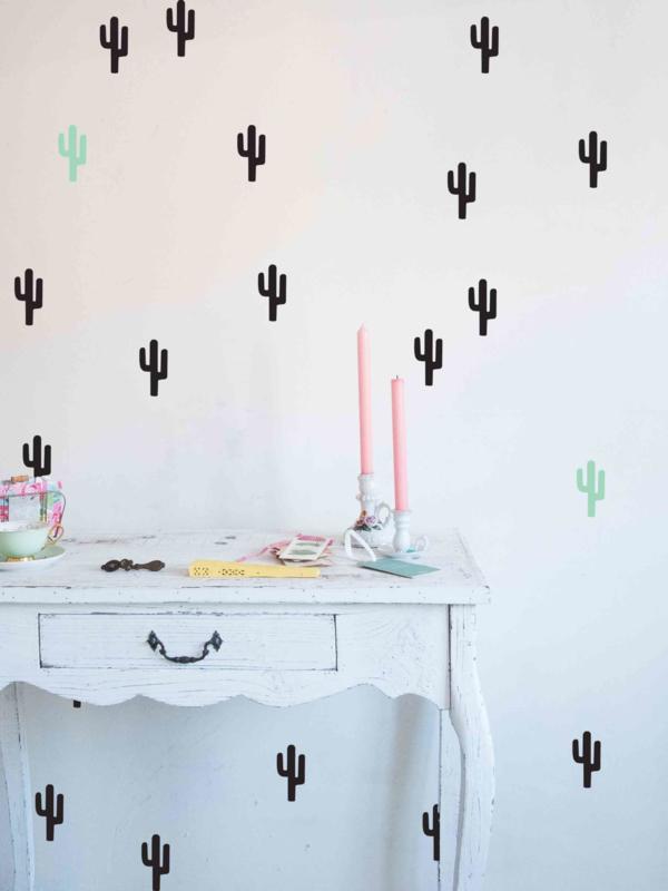 Muursticker Cactus Set