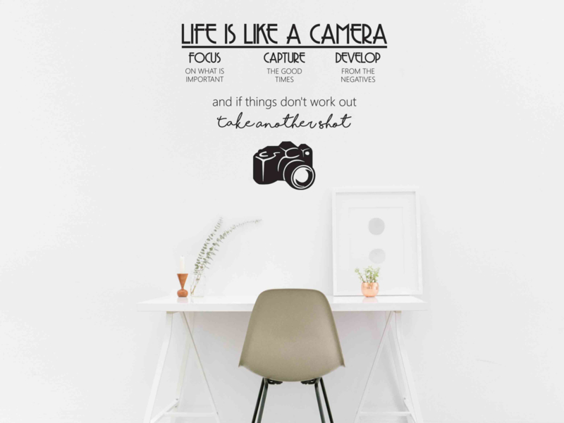 Muursticker Life Is Like A Camera