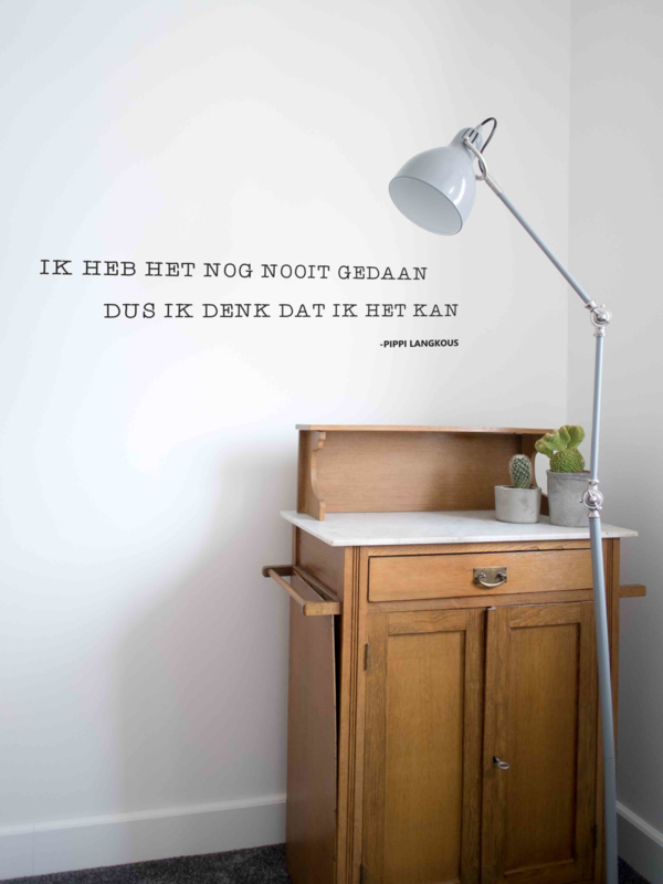Muursticker Quote Pipi Langkous