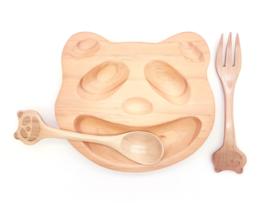 Houten bord panda (klein)