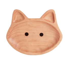 Houten bord poes