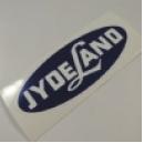 Jydeland sticker ovaal 13 cm