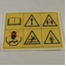 Sticker veiligheidssymbolen