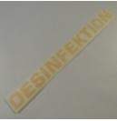 Sticker desinfectie