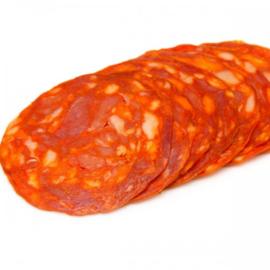 Belegd broodje spaanse chorizo