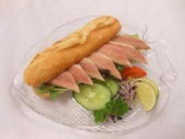 Belegd broodje paling