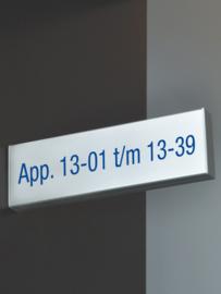 Bewegwijzering Binnen 'Haaks-op-de-muur bord' Systeem U