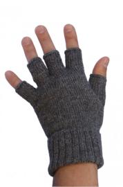 Halve vingerhandschoenen Grijs | Alpacawol