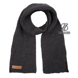Merino wollen sjaal | Antraciet