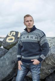 Noorse wollen trui | Blauw