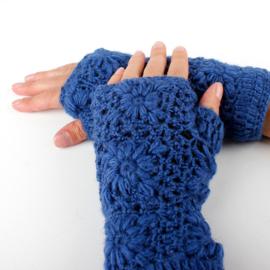Handwarmers wol | Blauw