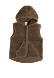 Wollen kinderbodywarmer | bruin