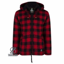 Wollen vest | Checker RedBlack