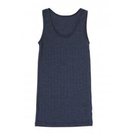 Dames Hemd Navy | Wol/zijde