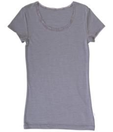 Dames shirt Grijs | Wol/zijde