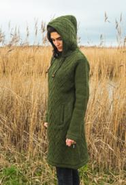 Wollen damesvest lang | Groen