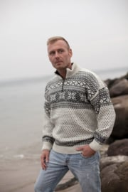 Noorse wollen trui | Wit