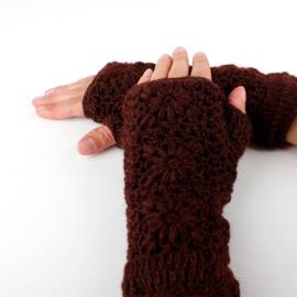 Handwarmers wol | Donkerbordeaux
