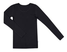 Dames longsleeve Zwart | Wol