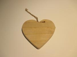 Houten hart 15 cm