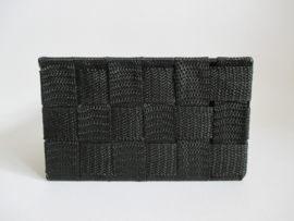 Mand zwart 17 x 17 x 10 cm