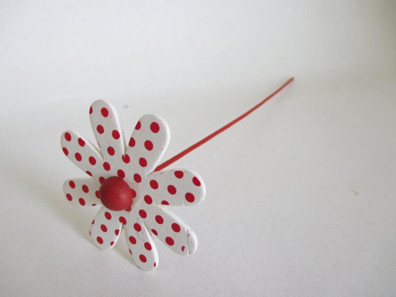 Houten decoratie bloem 21 cm