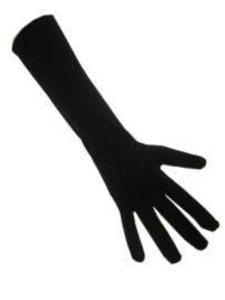 Handschoenen zwart (Piet) (S,M,L,XL)