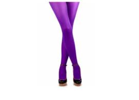 Gekleurde panty, paars.