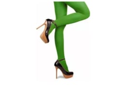 Gekleurde panty, groen.