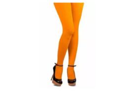 Gekleurde panty, oranje.