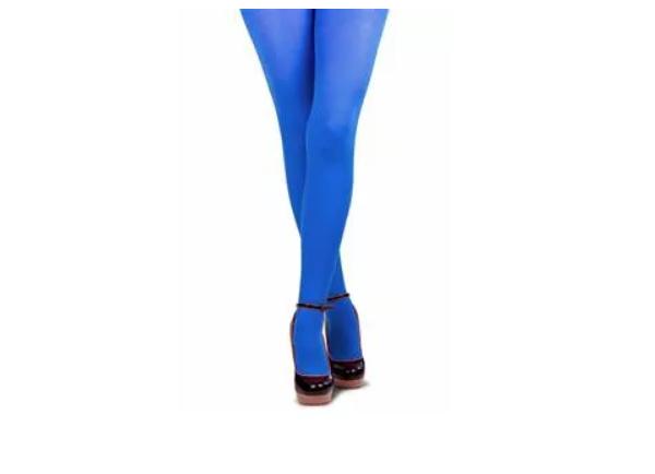 Gekleurde panty, blauw.