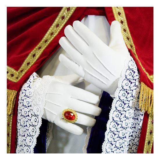 Handschoen wit lang DeLuxe (40cm)
