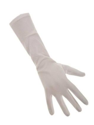Handschoen wit lang.