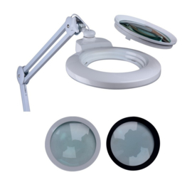 Loeplamp 150 mm lens- 3+5 dioptrie wissel lens- 60LED-dimfunctie 5235