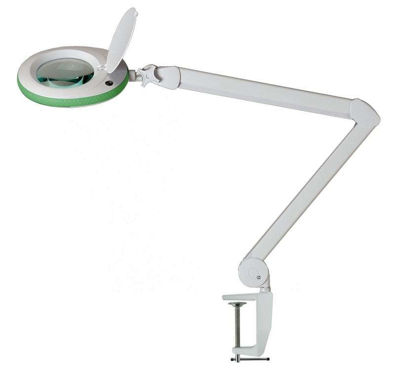 Loeplamp,125mm lens,5 dioptrie,96LED (groen)