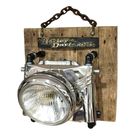 Harley Davidson Recycle Design Fatboy wall Light SOLD