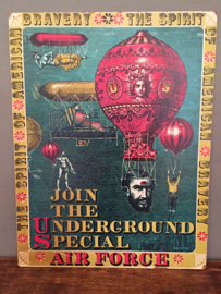 """Poster """"Join The Underground Special Air Force"""" 1968"""
