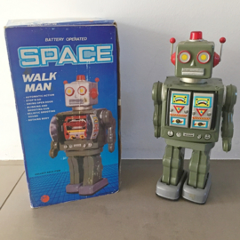 "Robot ""Space Walk Man"" 1980 original box"