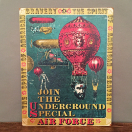 "Poster ""Join The Underground Special Air Force"" 1968"
