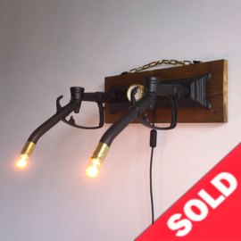 Gaspump wall light SOLD