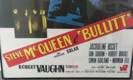 Italiaanse filmposter Bullit, Steve McQueen 1969