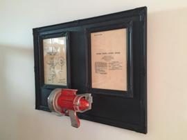 Flash Gordon Metal Ray Gun 1949 met ingelijst patent * Prijs op aanvraag*