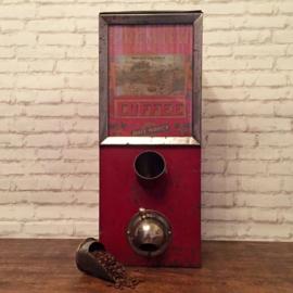 Vintage Zeldzame Koffiebonen dispenser uit 1940_verkocht_
